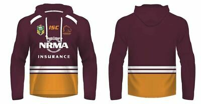 Brisbane Broncos 2017 NRL Jersey Hoody/Hoodie Adults and Kids Sizes Made By ISC