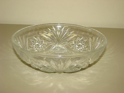 "Early American Prescut Anchor Hocking Star Of David 7"" Serving Bowl"