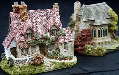 Lilliput Lane ENGLISH COTTAGES 2 Miniatures Briary & Brockbank GREAT CONDITION