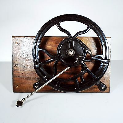 Antique Treadle Sewing Machine Cast Iron Fly Wheel, Cover, & Rod Steampunk