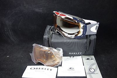 OAKLEY Ski Snowboard Snow Goggles Airbrake 59-281 Team USA Olympics 2 lens Spare