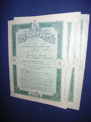 EGYPT: 4 x Y. Rofe & Co. bond buying contracts, 2 vignettes, 1932