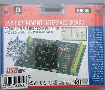 Velleman USB Experiment Interface Board Kit K8055