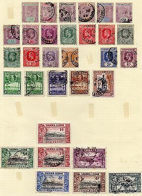 Sierra Leone Stamps Queen Victoria To King George V1 Used