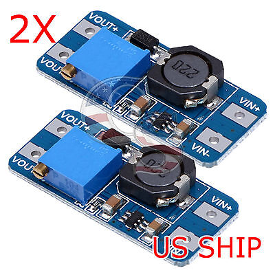 2 PCS MT3608 DC-DC ADJUSTABLE STEP-UP POWER CONVERTER MODULE FOR Arduino & More