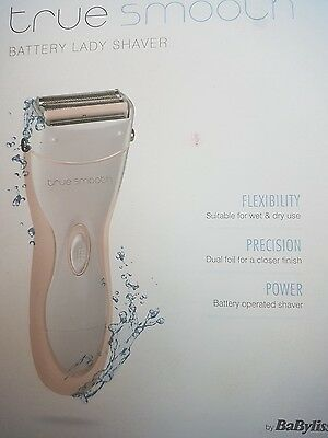Babyliss Battery Power Wet & Dry True Smooth Ladies Shaver  8771Bu