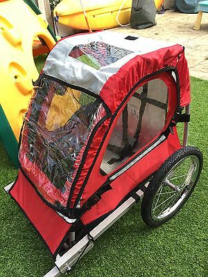 Halfords single buggy child bike bicycle trailer red