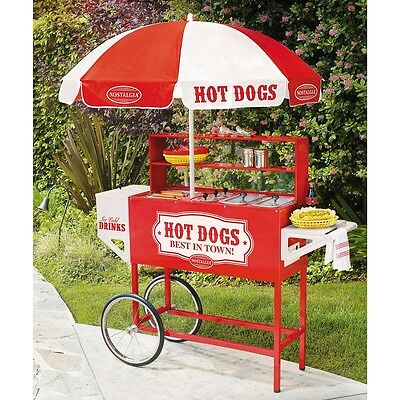 Commercial Hot Dog Cart W Umbrella Backyard Concessions Stand Carnival Grill New