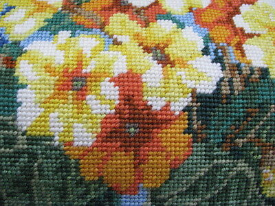 EHRMAN: 'Primrose Path' designed by Donna Kooler - COMPLETED Tapestry Canvas