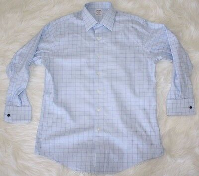 Brooks Brothers Mens Slim Fit Non-Iron French Cuff Button Up Dress Shirt 16 32
