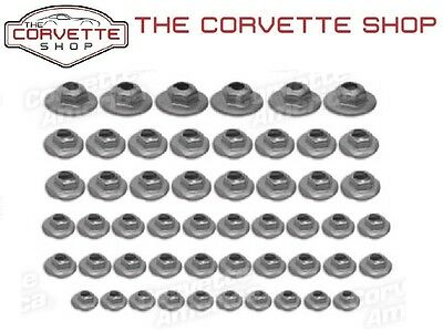C3 Corvette Emblem Speednut Kit 1970-1972 52 pieces set K1018