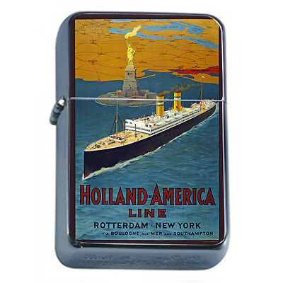 Vintage Cruise Ship D3 Windproof Dual Flame Torch Lighter Refillable