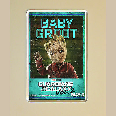 Guardians Of The Galaxy Vol 2 - Vin Diesel - Baby Groot - Photo Fridge Magnet