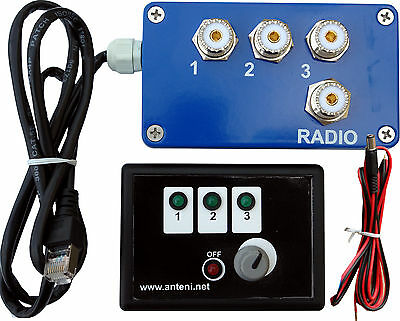 MS-S3 REMOTE ANTENNA COAXIAL SWITCH , 3 POSITIONS, 2 KW PEP, Ready for use set