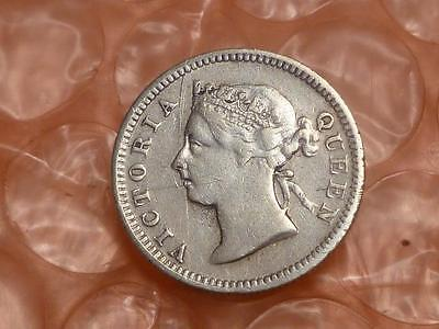 Straits Settlements ( Malaysia ) Silver 5 Cents 1900 #1