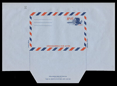 SCOTT #UC38D MINT AIR LETTER SHEET with REVERSED DIE CUTTING - UNFOLDED