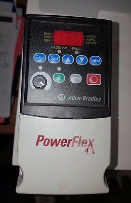 Allen-Bradley Powerflex 1/2 HP AC Drive Cat No. 22A-B2P3N104 Ser. A 3 Phase 240V