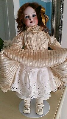 "PRETTY 21"" SFBJ 301 ANTIQUE FRENCH DOLL - lovely antique clothing"