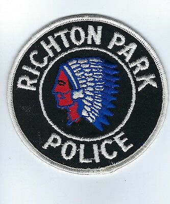 Richton Park (Cook County) IL Illinois Police Dept. patch - NEW! *Indian Chief*