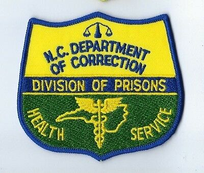 North Carolina NC Dept. of Correction Div of Prisons HEALTH SERVICE patch - NEW!