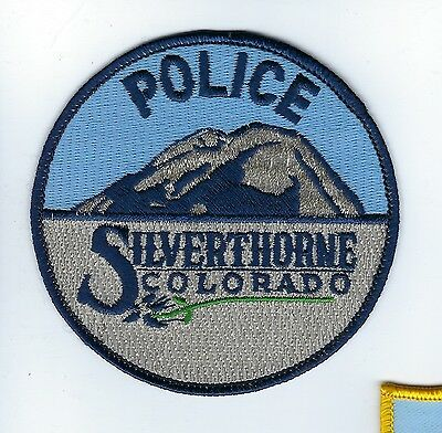 Silverthorne (Summit County) CO Colorado Police Dept. patch - NEW! Silver thread