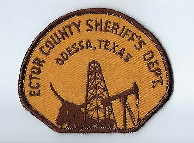 Ector County TX Texas Sheriff's Dept. in Odessa patch - NEW! *Oil Derrick Well*