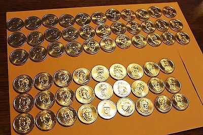 2007-2016 Presidential Dollar 78 coins P & D set - FREE SHIPPING