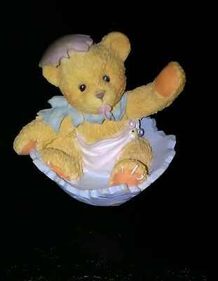 "Cherished Teddies Bunny Figurine ☆Retired☆  ""Just in time for Spring"" ☆MUST SEE☆"