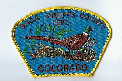 Baca County CO Colorado Sheriff's Dept. patch - NEW!