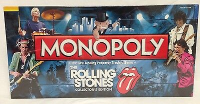 The Rolling Stones Collector's Edition Monopoly Board Game New Sealed