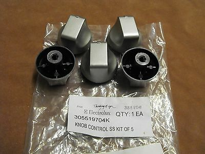 305519704K: Chef Stove-Cooktop Knob Assy. (Pkt 5) For GHS605S Etc.GENUINE