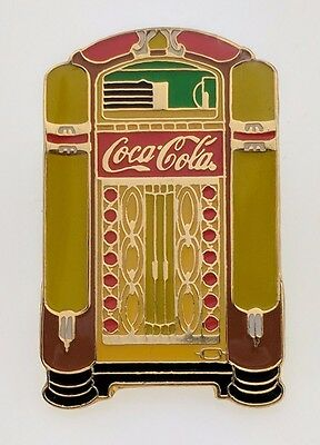 Coca-Cola Jukebox Pin Enamel Vintage Advertising Music 1997 Coke