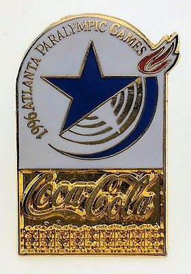 Coca-Cola 1996 Atlanta Paralympic Game Pin Star Logo Olympics