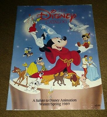 Vintage Disney Catalog 1989 MINT  26 Pages, with Order Form