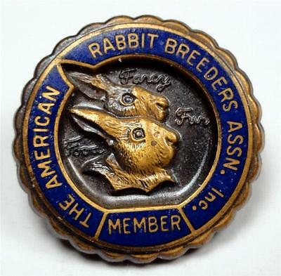 AMERICAN RABBIT BREEDERS ASSN MEMBER Lapel Pin Food-Fancy-Fur 18mm ME6379