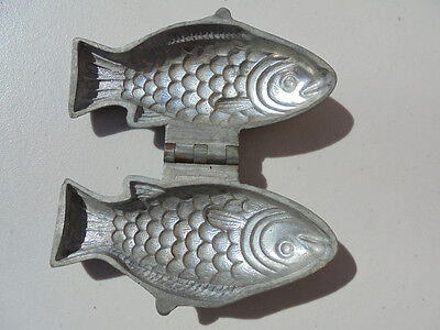 Old Antique Eppelsheimer New York Pewter Fish Ice Cream Mold #604