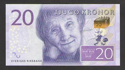 SWEDEN   20  KRONOR  2015   P 69 NEW   Uncirculated Prefix B