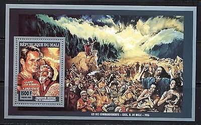 "CINEMA, MOVIES: ""THE 10 COMMANDMENTS"" JUDAICA ON MALI 1994 Scott 699, MNH"