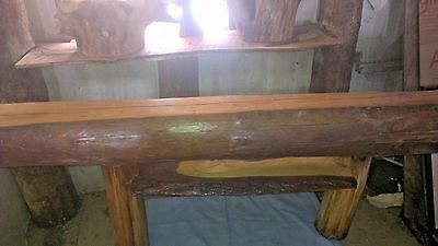 Reclaimed American Chestnut Barn Beam Mantle Shelf