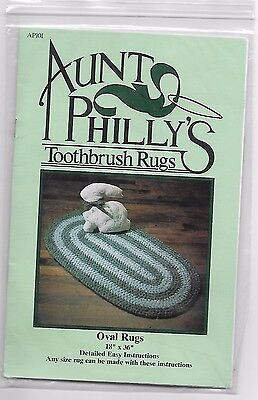 Aunt Philly's Oval Toothbrush Rugs Pattern with Detailed Instructions & Tool