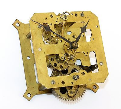 VINTAGE 8-DAY TIME ONLY CLOCK MOVEMENT w/HANDS - PARTS OR REPAIR RN294