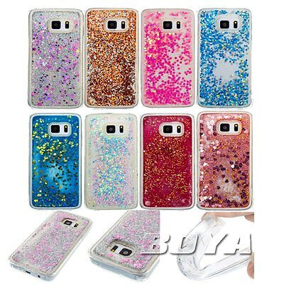 for Samsung soft TPU phne case protective skin bling Glitter liquid Quicksand