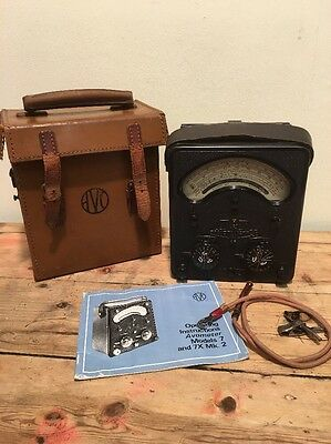 Vintage Avo Meter In Original Case With Instructions Model 7