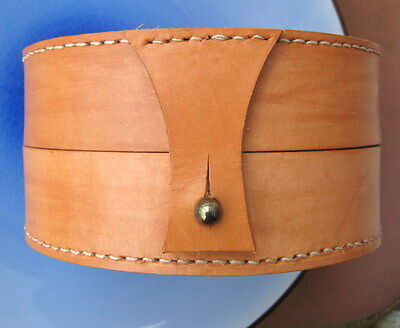 Leather Handmade& Hand Stitched  Fly Reel Case Centerpin Reel Case Custom Made-2