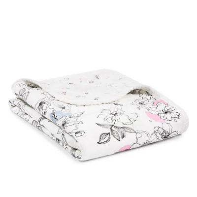 Aden and Anais Baby Stroller Blanket Bamboo Muslin - Silky Soft Meadowlark New
