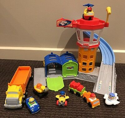 Fisher Price Little People Airport Truck Aeroplane Helicopter Car
