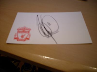 signed card of ex liverpool footballer viadimir smicer