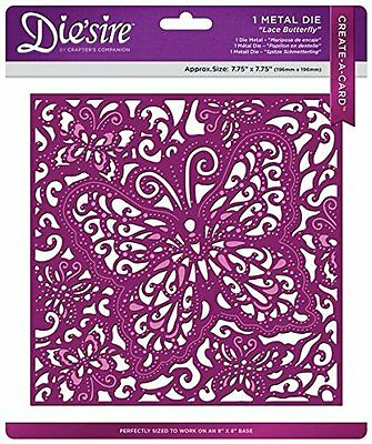 Die'sire Create A Card Metal Die - Lace Butterfly NEW SEALED Crafters Companion
