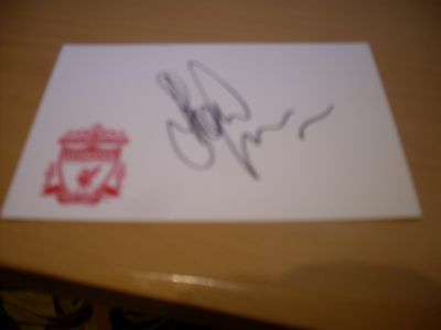 signed card of ex liverpool footballer steve finnan