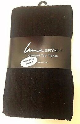 "Lane Bryant Control Top Tights, Black - Size C/D (5'1"" - 6' ; 195-275 lbs)- NEW!"